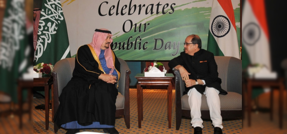 Governor of Riyadh Region HRH Prince Faisal bin Bandar bin Abdulaziz was the Chief Guest at the Reception hosted by the Embassy on the occassion of the 71st Republic Day of India on January 26, 2020